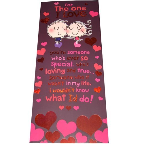 For The One I Love - Archies Large Size Greeting Card