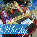 JW Black Label with Salted Nuts, Candle and Chocolate in Basket
