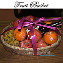 Red Wine and Seasonal Fresh Fruits Basket