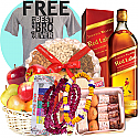 JW Red Label, Mithai, Bhai-Tika Mala, Tika, Fruit Basket, Dry Nuts Tray (Free Tshirt)