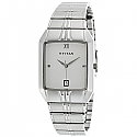 Titan White Dial Analog Watch for Men (9264SM01)
