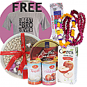 Tika, Phool Mala, Free Tshirt with Danish Cookies, Nuts And Sweets