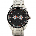Titan Black Dial Analog Watch for Men (1582KM02)