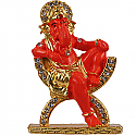 Metal Ganesh Ji Sitting On Chair