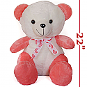 Heart Tie Cream Pink Teddy Bear