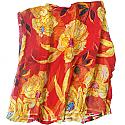 Bombai Print Chiffon Saree - Multi Color Floral Design (Embroidery and Stone Work)