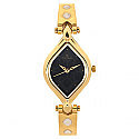 Titan Brass Case Black Dial Analog Watch for Women (9639YM10)