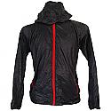 Black Full Sleeves Polyester Windcheater (XL)