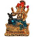 Pagdi Ganesh Ji With Small Mouse Metal Statue