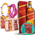 JW Red Label, Mithai Box, Tihar Bhai-Tika Mala with Free Tong Garden Dry Nuts