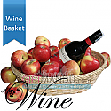 Sweet Red Wine in Apple Basket