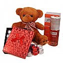 Special Valentine Package Of Gourmet Chocolate Box, Teddy & Perfume