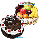 Fruit Round Basket and Five Star Cake