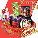 Christmas Hampers of Wine, Snacks & Chocolate Basket