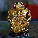 Golden Color Ganesh Ji - (5 inch)