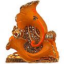 Metal Ganesh Ji With Handful Ladoo (Yellow)