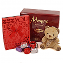 Valentine's Day love Package Of Perfume, Cute Teddy with Gourmet Chocolates