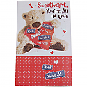Sweetheart You're All In One (Funny, Cute, Lovable) - Giant Greeting Card