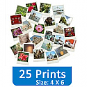 25 Photo Prints (4 X 6) Set Gift