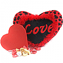Love Heart Pillow with Heart Chocolate box