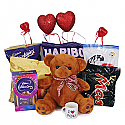 6 Types Chocolate Packs With Teddy, Mini Cup And Hearts