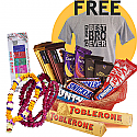 Bhaitika Mala Set, Saptarangi Tika, Chocolates Basket and Free Best Bro Tshirt