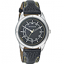 Titan Stainless Steel Case Black Dial Analog Watch for Men (1590SL03)