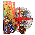 Ganesh Ji With Tihar Special Snickers Pack & Dry Nuts Tray