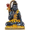 Metal Shiva Ji With Stone