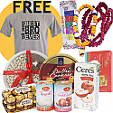 Bhaitika Mala Set, Saptarangi Tika, Ferrero Rocher, Cookies, Dry Nuts and more (Free Tshirt)