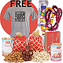 Bhaitika Mala Set, Saptarangi Tika, Sweets, Dry Nuts and Free Best Bro Tshirt