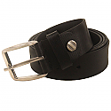 Leather Belt Formal Black Pin Buckle