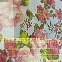 Japanese Chiffon Saree - Jaree Border (Pink Roses)