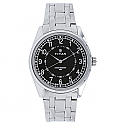 Black Dial Metal Strap Watch  (1729SM02)