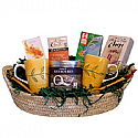 Good Morning Assortment Basket - 2 Personalized Cups, Tea, Coffee and Honey
