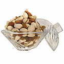 Crystal Triangle Mini Pot Full Of Dry Nuts