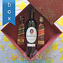 Dashain Festive Box with JW Mini Red - Black Labels and Sweet Wine