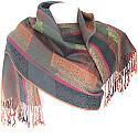 Wool Solid Paisley Scroll Print Women's Shawl Wrap