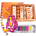 Assorted Mithai, Tihar Mala and Tika for Bhai-Tika