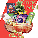 Christmas Special Snacks & Chocolates in Basket