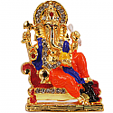 Metal Ganesh Ji With A Small Mouse Statue