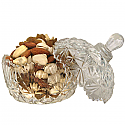 Round Glass Candy Bowl With Dry Nuts