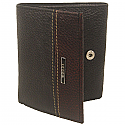Woods Brown & Black Leather Tri-Fold Wallet (Genuine Leather)