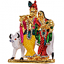 Metal Krishna And Radha Standing Statue