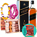 JW Black Label, Mithai Box, Tihar Bhai-Tika Mala with Free Dry Nuts