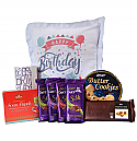 Birthday Special Package - Cushion, Mug, Chocolates And Cookies