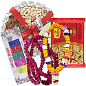 Dry Nuts Tray, Soan Papdi, Tihar Mala Set and Tika