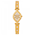 Titan Brass Case Champagne Dial Analog Watch for Women (9639YM09)