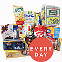 Everyday Package - Biscuits, Oats, Horlicks, Viva, Tea, Coffee, Sweets and more (17 Items)