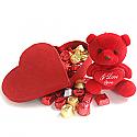 Special Valentine Gourmet Chocolate Box and Love Teddy Bear